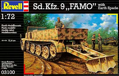 Sdkfz.9 FAMO with Earth Spade プラモデル (Revell 1/72 ミリタリー No.03100)&nbsp商品画像