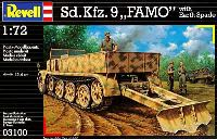レベル 1/72 ミリタリー Sdkfz.9 FAMO with Earth Spade