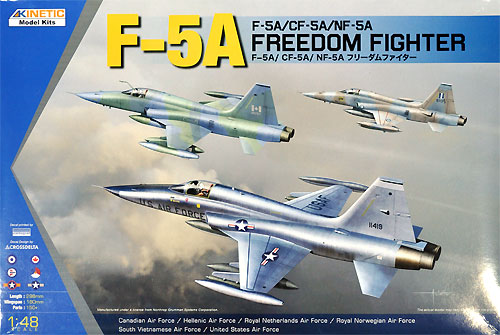 F-5A/CF-5A/NF-5A フリーダムファイター プラモデル (キネテック 1/48 エアクラフト キット No.K48020)&nbsp商品画像